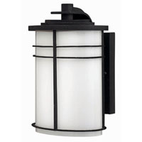 Hinkley Lighting Ledgewood 1 Light Outdoor Wall Lantern in Vintage Black 1120VK-ESDS