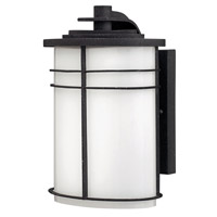 Hinkley 1120VK-GU24 Ledgewood 1 Light 11 inch Vintage Black Outdoor Wall in Cased Opal, GU24