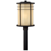 Hinkley 1121MR Ledgewood 1 Light 21 inch Museum Bronze Outdoor Post Mount in Champagne Inside-Etched, Incandescent, Post Sold Separately