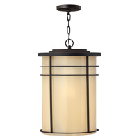 Hinkley 1122MR-GU24 Ledgewood 1 Light 13 inch Museum Bronze Outdoor Hanging in Champagne Inside-Etched, GU24