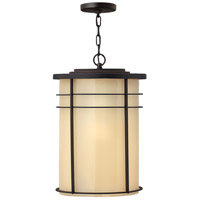 Ledgewood 1 Light 13 inch Museum Bronze Outdoor Hanging Lantern in Champagne Inside-Etched, Incandescent