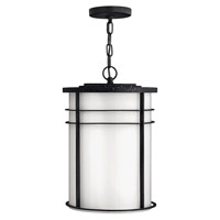 Ledgewood 1 Light 13 inch Vintage Black Outdoor Hanging in Cased Opal, GU24