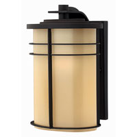 Hinkley Lighting Ledgewood 1 Light Outdoor Wall Lantern in Museum Bronze 1124MR-ES photo thumbnail