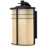 Hinkley 1125MR Ledgewood 1 Light 16 inch Museum Bronze Outdoor Wall Lantern in Champagne Inside-Etched, Incandescent