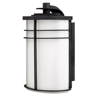 Hinkley 1125VK-GU24 Ledgewood 1 Light 16 inch Vintage Black Outdoor Wall in Cased Opal, GU24