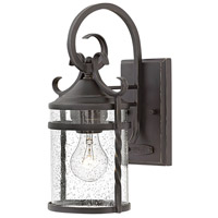 Hinkley 1140OL-CL Casa 1 Light 13 inch Olde Black Outdoor Wall Mount in Clear Seedy