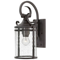 Casa 1 Light 18 inch Olde Black Outdoor Wall Mount in Incandescent, Clear Seedy