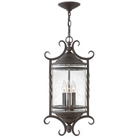 Hinkley 1147OL-CL Casa 3 Light 12 inch Olde Black Outdoor Hanging Light in Clear Seedy
