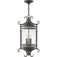 Hinkley 1147OL-CL Casa 3 Light 12 inch Olde Black Outdoor Hanging Light