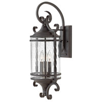 Hinkley 1148OL-CL Casa 3 Light 26 inch Olde Black Outdoor Wall Mount in Clear Seedy
