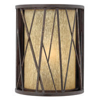 Elm 1 Light 10 inch Regency Bronze Outdoor Wall in GU24, Amber Etched Glass