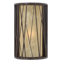 Elm 1 Light 14 inch Regency Bronze Outdoor Wall in GU24, Amber Etched Glass