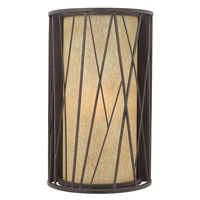 Elm 1 Light 18 inch Regency Bronze Outdoor Wall in GU24, Amber Etched Glass