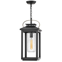 Hinkley 1162BK Atwater 1 Light 10 inch Black Outdoor Hanging Lantern, Coastal Elements