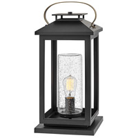 Hinkley 1167BK Atwater 1 Light 22 inch Black Outdoor Pier Mount, Coastal Elements