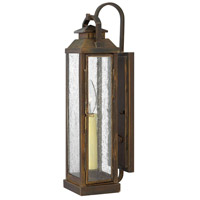 Revere 1 Light 18 inch Sienna Outdoor Wall Lantern