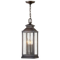 Hinkley 1182BLB Revere 3 Light 7 inch Blackened Brass Outdoor Hanging Lantern