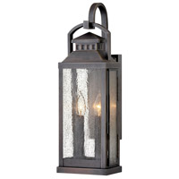 Hinkley 1184BLB Revere 2 Light 22 inch Blackened Brass Outdoor Wall Mount