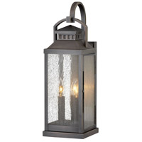 Revere 3 Light 22 inch Blackened Brass Outdoor Wall Mount