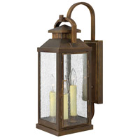 Hinkley 1185SN Revere 3 Light 22 inch Sienna Outdoor Wall Lantern