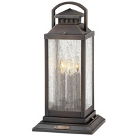 Hinkley 1187BLB Revere 3 Light 20 inch Blackened Brass Outdoor Pier Mount