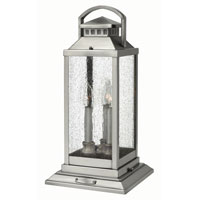 Hinkley Lighting Revere 3 Light Pier Mount Lantern in Pewter 1187PW