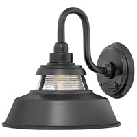 Hinkley 1194BK Troyer 1 Light 10 inch Black Outdoor Wall Mount, Open Air