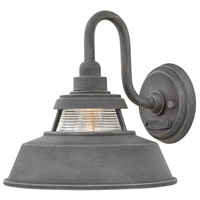 Hinkley 1194DZ Troyer 1 Light 10 inch Aged Zinc Outdoor Wall Mount, Open Air