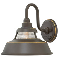 Troyer 1 Light 10 inch Oil Rubbed Bronze Outdoor Wall Mount, Open Air