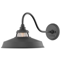 Hinkley 1195BK Troyer 1 Light 12 inch Black Outdoor Wall Mount