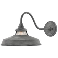 Hinkley 1195DZ Troyer 1 Light 12 inch Aged Zinc Outdoor Wall Mount