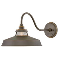 Troyer 1 Light 12 inch Oil Rubbed Bronze Outdoor Wall Mount