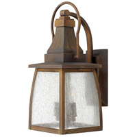 Hinkley 1200SN-LED Montauk 1 Light 17 inch Sienna Outdoor Wall in LED, Clear Seedy Glass photo thumbnail