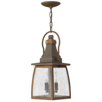 Hinkley 1202SN-LED Montauk 1 Light 7 inch Sienna Outdoor Hanging in LED, Clear Seedy Glass