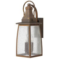 Hinkley 1204SN-LED Montauk 1 Light 21 inch Sienna Outdoor Wall in LED, Clear Seedy Glass