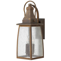 Hinkley 1204SN Montauk 3 Light 21 inch Sienna Outdoor Wall Mount in Incandescent, Clear Seedy Glass