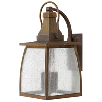 Hinkley 1205SN-LED Montauk 1 Light 20 inch Sienna Outdoor Wall in LED, Clear Seedy Glass
