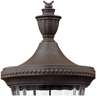 Hinkley 1241MN Oxford 3 Light 28 inch Midnight Bronze Outdoor Post Mount, Post Sold Separately  alternative photo thumbnail
