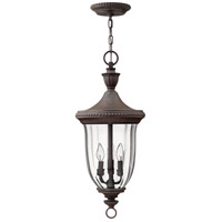 Hinkley 1242MN Oxford 3 Light 12 inch Midnight Bronze Outdoor Hanging Lantern
