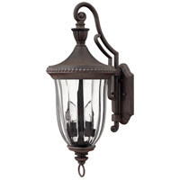Hinkley 1244MN Oxford 3 Light 24 inch Midnight Bronze Outdoor Wall Lantern