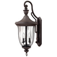 Hinkley 1245MN Oxford 3 Light 29 inch Midnight Bronze Outdoor Wall Mount