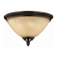 Hinkley Lighting San Mateo 3 Light Outdoor Flush Lantern in Regency Bronze 1253RB