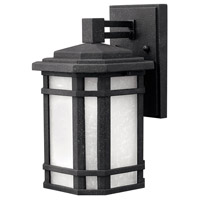 Hinkley 1270VK-GU24 Cherry Creek 1 Light 11 inch Vintage Black Outdoor Wall in White Linen, GU24 photo thumbnail