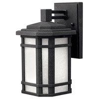Cherry Creek 1 Light 11 inch Vintage Black Outdoor Wall Lantern in White Linen, Incandescent