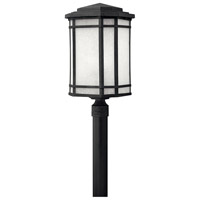 Hinkley 1271VK Cherry Creek 1 Light 22 inch Vintage Black Post Lantern in White Linen, Incandescent, Post Sold Separately