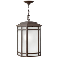 Hinkley 1272OZ-WH Cherry Creek 1 Light 12 inch Oil Rubbed Bronze Outdoor Hanging Light in Incandescent