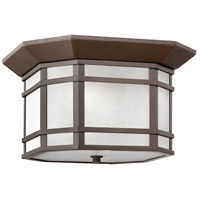 Hinkley 1273OZ-WH Cherry Creek 2 Light 12 inch Oil Rubbed Bronze Outdoor Flush Mount in Incandescent