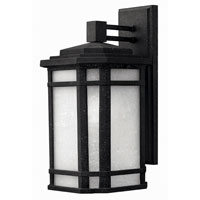Hinkley Lighting Cherry Creek 1 Light Outdoor Wall Lantern in Vintage Black 1274VK-ES