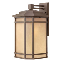 Hinkley 1275OZ-LED Cherry Creek LED 21 inch Oil Rubbed Bronze Outdoor Wall Lantern in Amber Linen