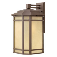 Hinkley 1275OZ Cherry Creek 1 Light 21 inch Oil Rubbed Bronze Outdoor Wall Lantern in Amber Linen, Incandescent